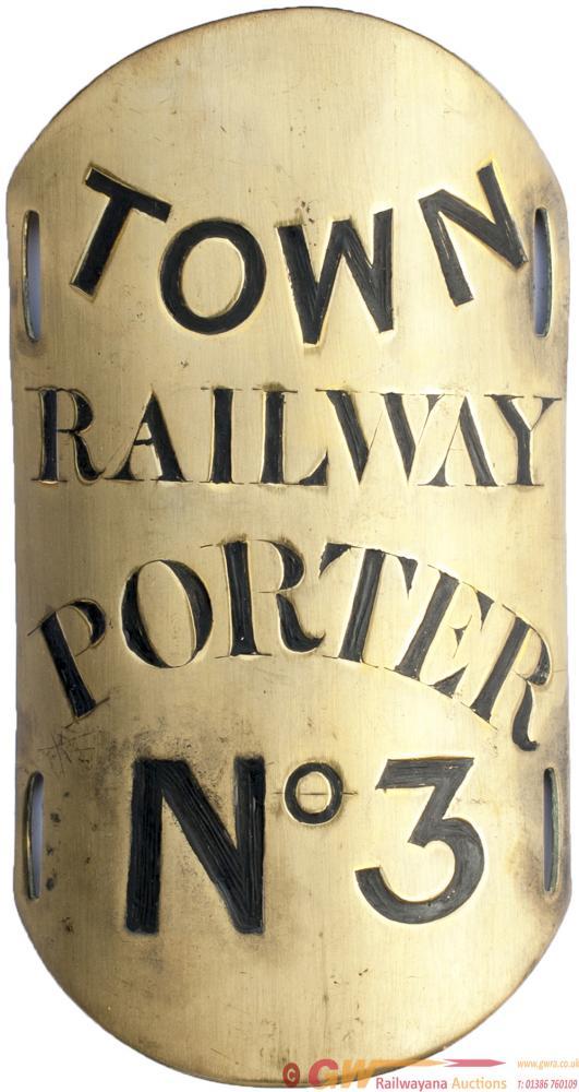 Railway Brass Armband TOWN RAILWAY PORTER no3,