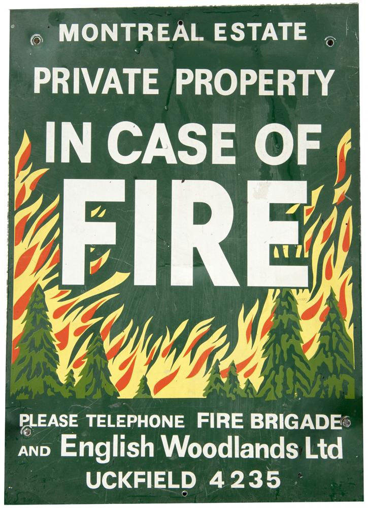 Enamel Sign From Private Estate. MONTREAL ESTATE.