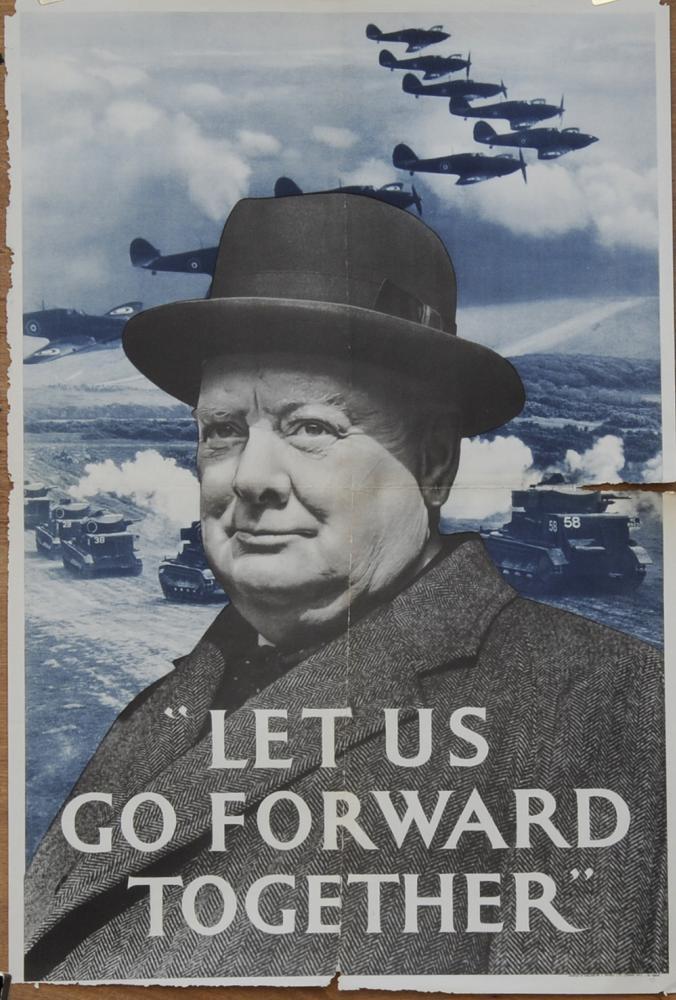 Wartime Poster, 'Let Us Go Forward Together'.
