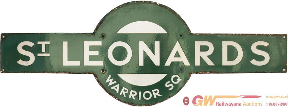 Southern Railway Enamel Target Sign ST LEONARDS