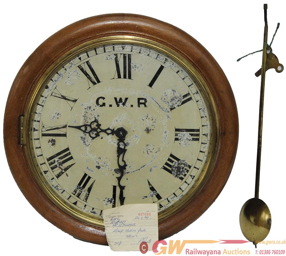 GWR 12 Inch Fusee Trunk Drop Dial As Obtained From