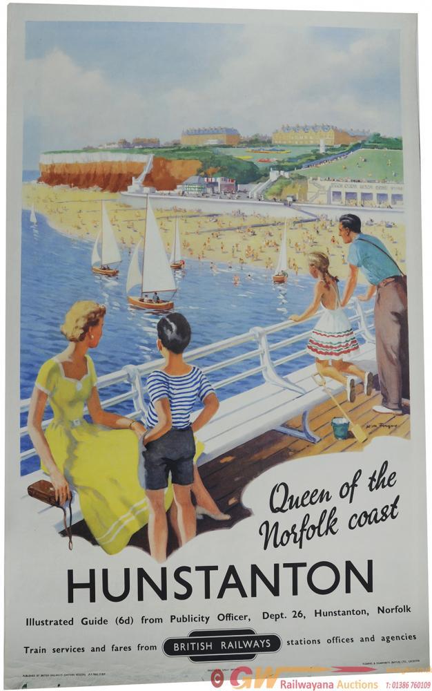Poster British Railways 'Hunstanton - Queen Of The