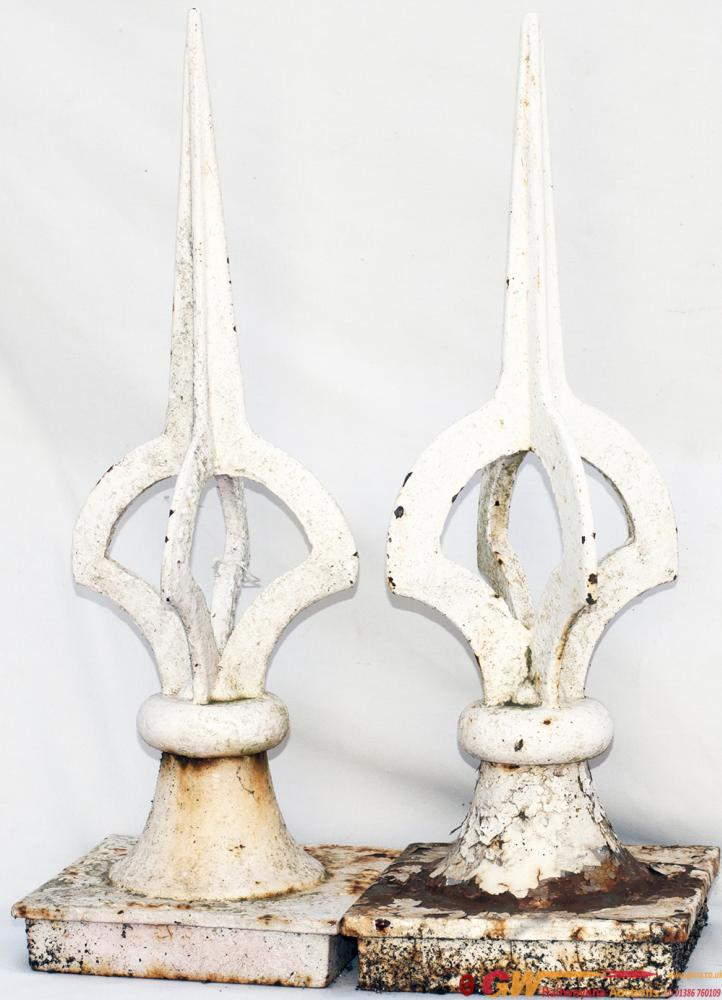 A Pair Of LSWR Pattern Cast Iron Signal Finials
