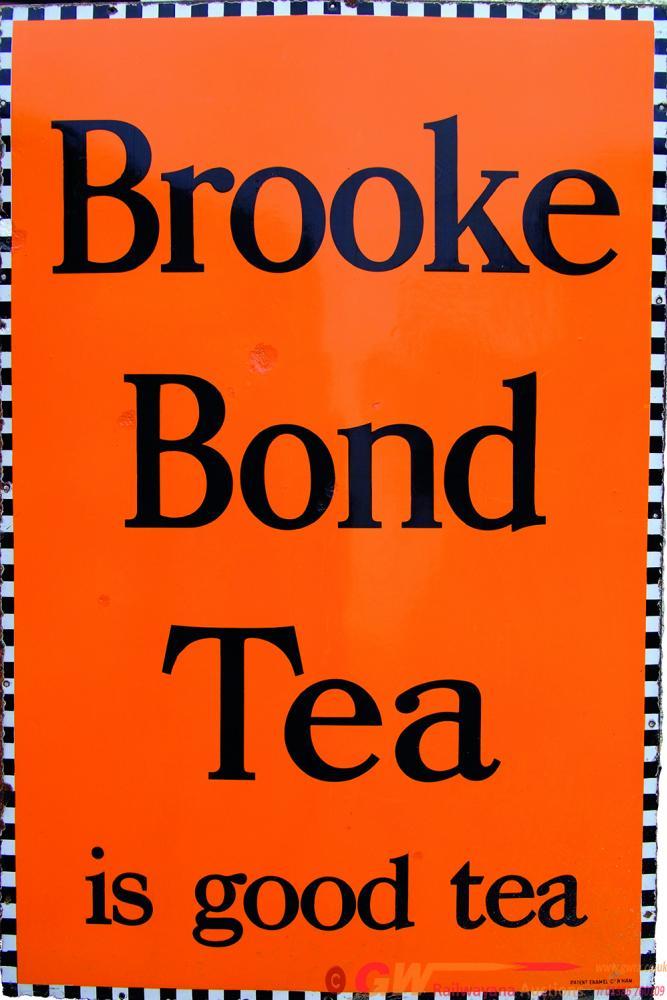 Advertising Enamel Sign, Brooke Bond Tea Is Good