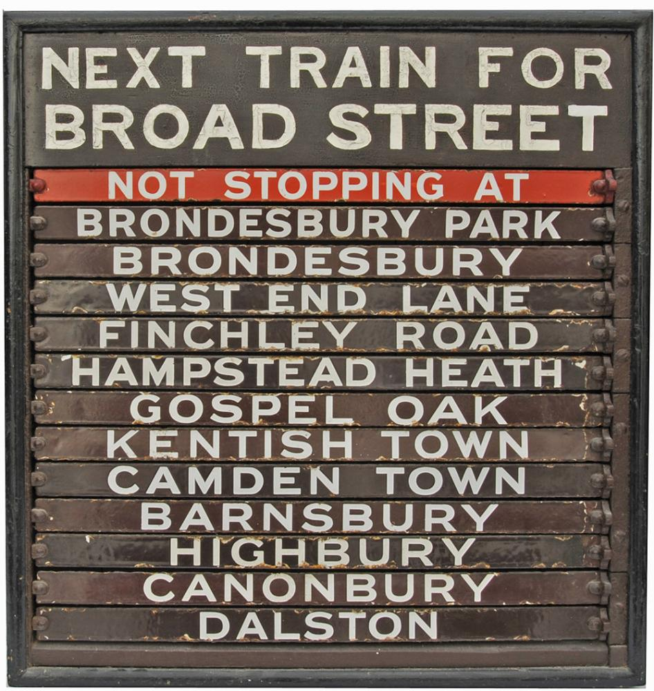 Wooden Destination Board With 13  Chocolate &
