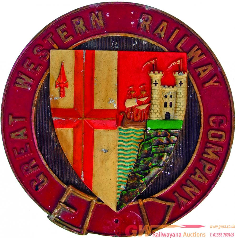 Nameplate Badge GREAT WESTERN RAILWAY COMPANY, Ex