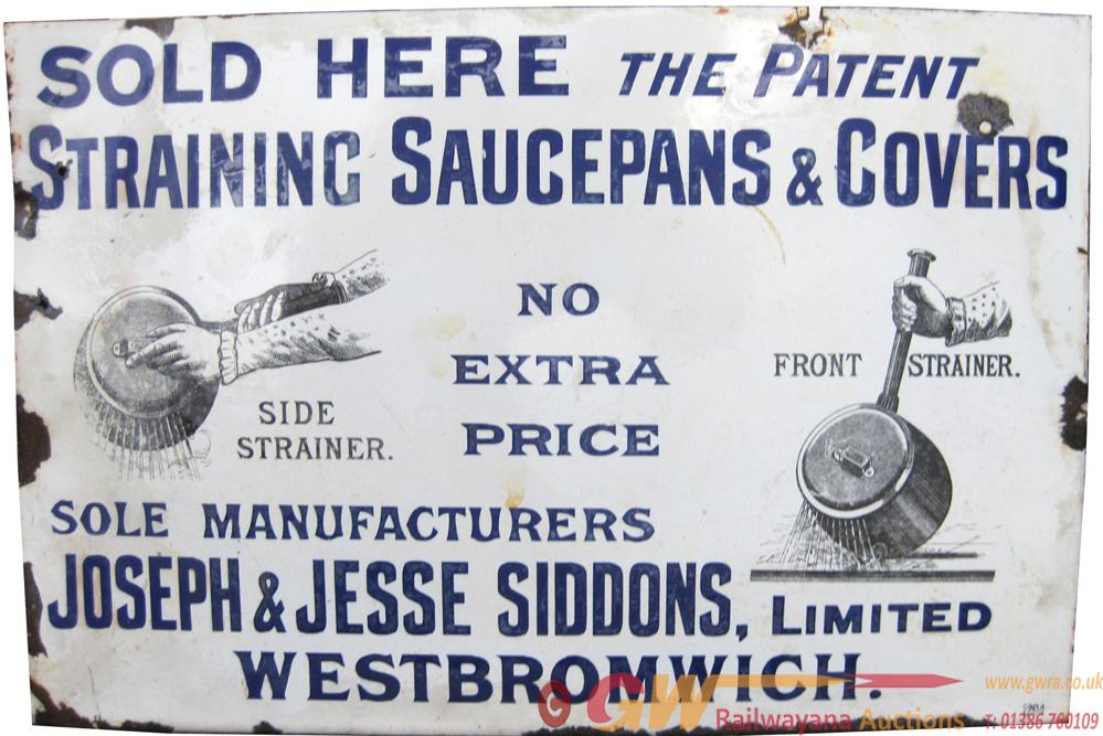 Advertising Enamel Sign 'Sold Here - The Patent