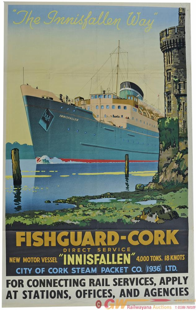 Poster, City Of Cork Steam Packet Company