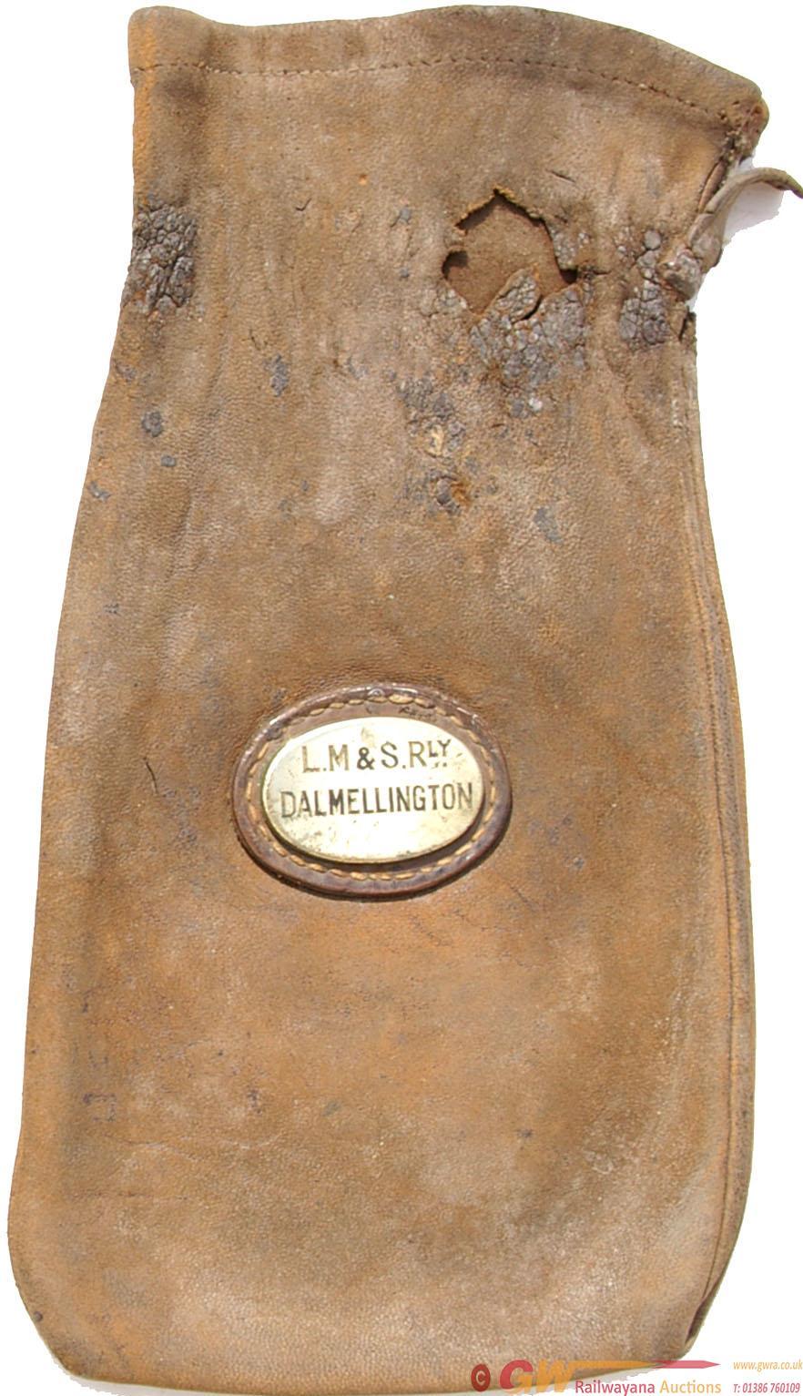 London Midland Scottish Railway Leather Cash Bag