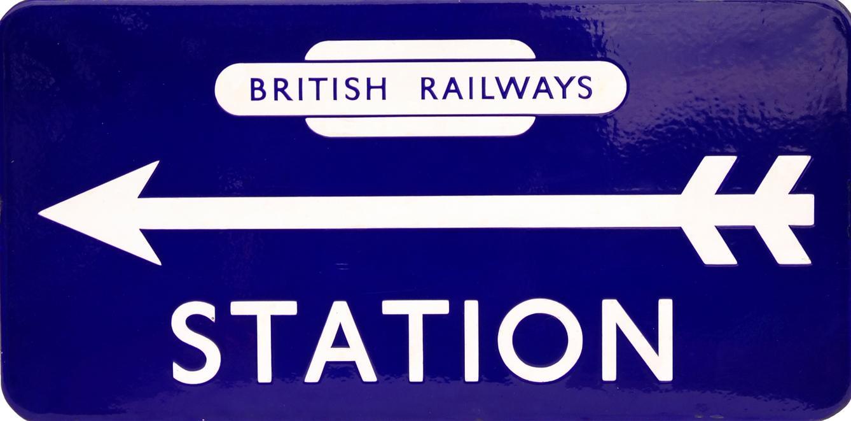 British Railways(E) Enamel Station Direction Sign