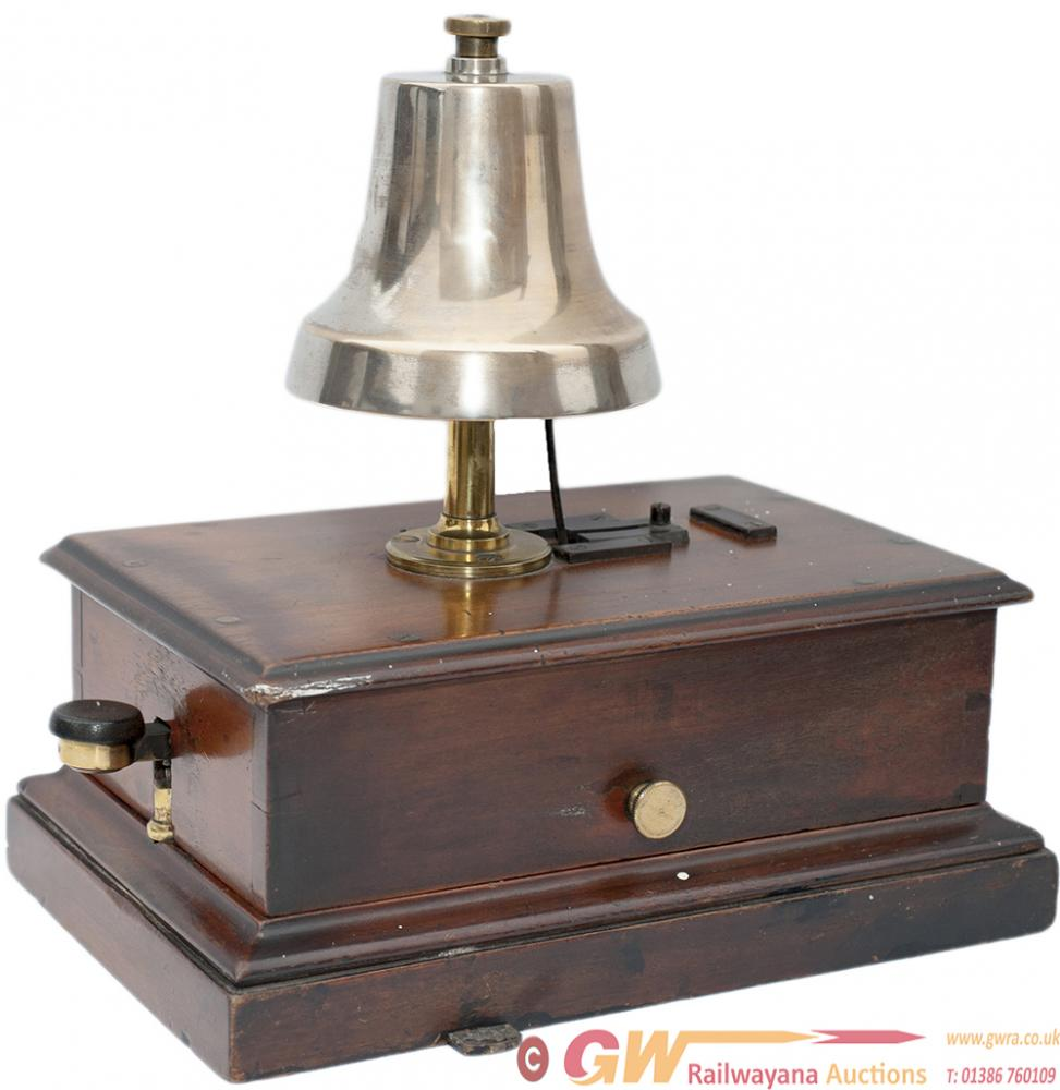 GWR Mahogany Cased Block Bell With Church Bell And
