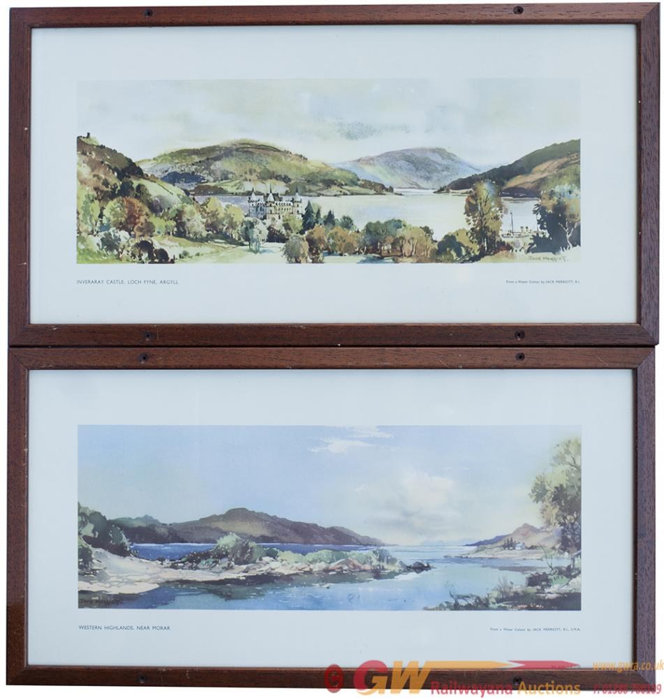 Carriage Prints X 2 WESTERN HIGHLANDS, NEAR MORAR