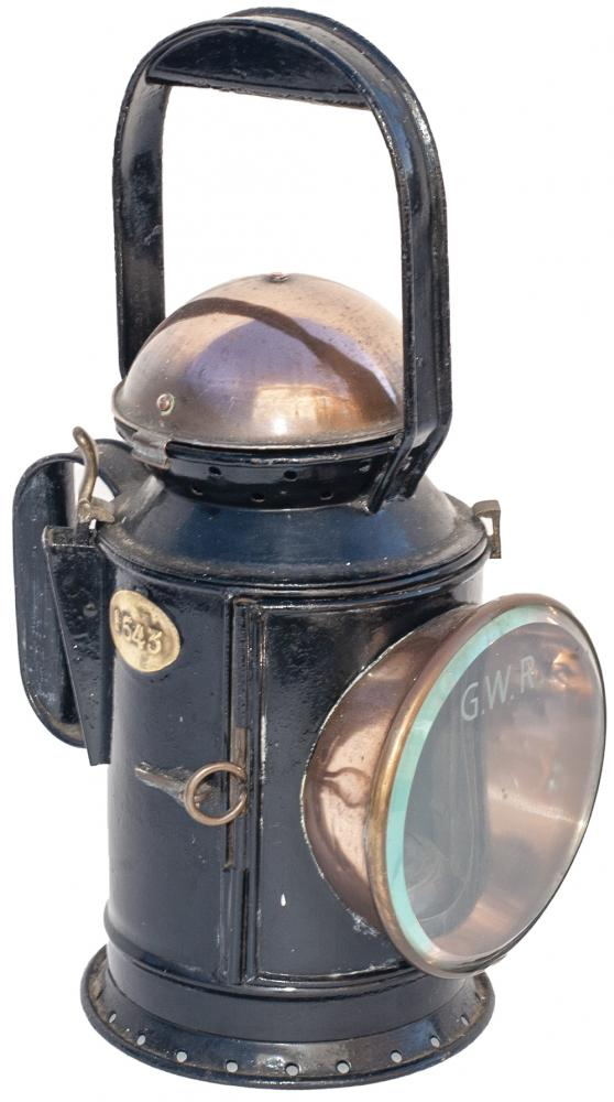 GWR 3 Aspect Copper Top Handlamp Stamped On The