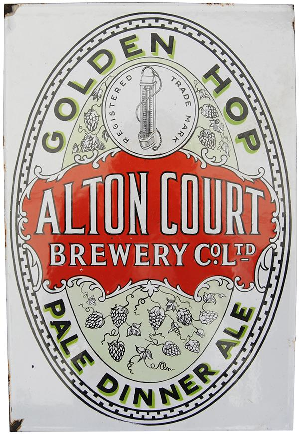 Enamel Advertising Sign ' Alton Court Brewery Co