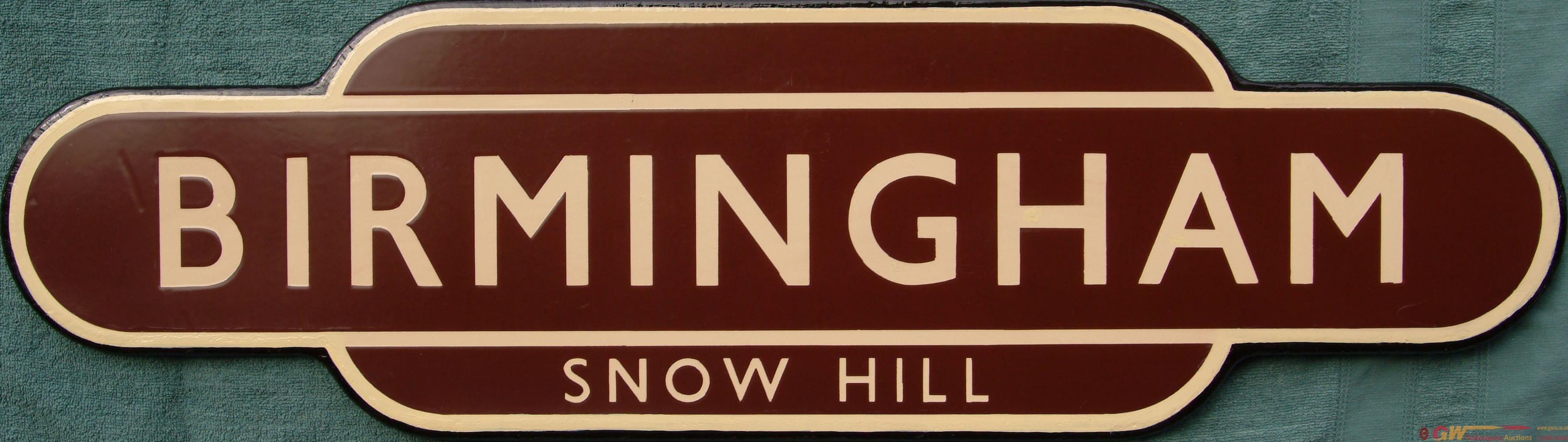 Totem, BIRMINGHAM SNOW HILL, F/F. Ex GWR Main Line