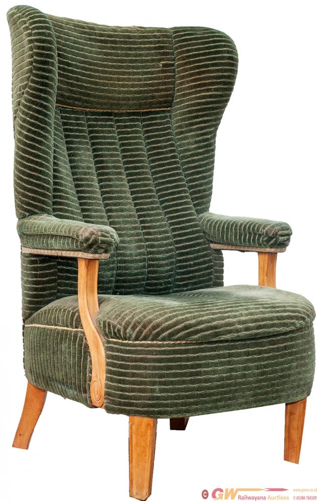 Pullman Chair With Its Original Green Moquette