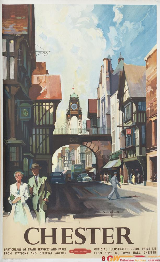 Poster BR(M) CHESTER By Claude Buckle Published In