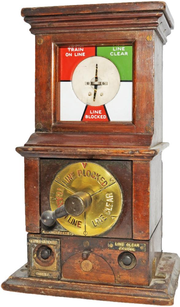 Midland Railway Rotary Block Instrument. Rear