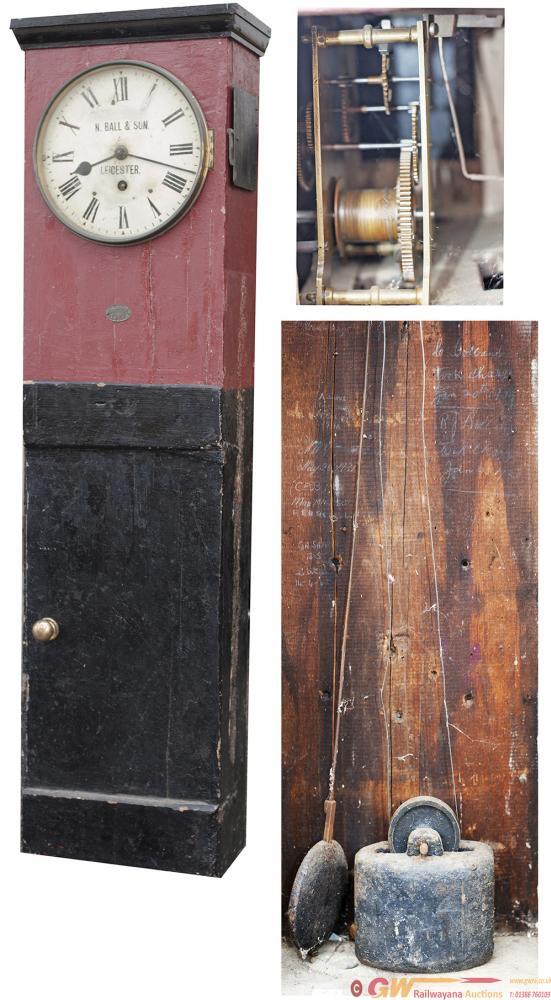 Midland Railway 10-Inch Pine Cased Iron Dial Clock