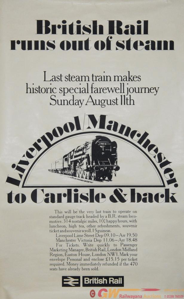 Poster British Railways Runs Out Of Steam,