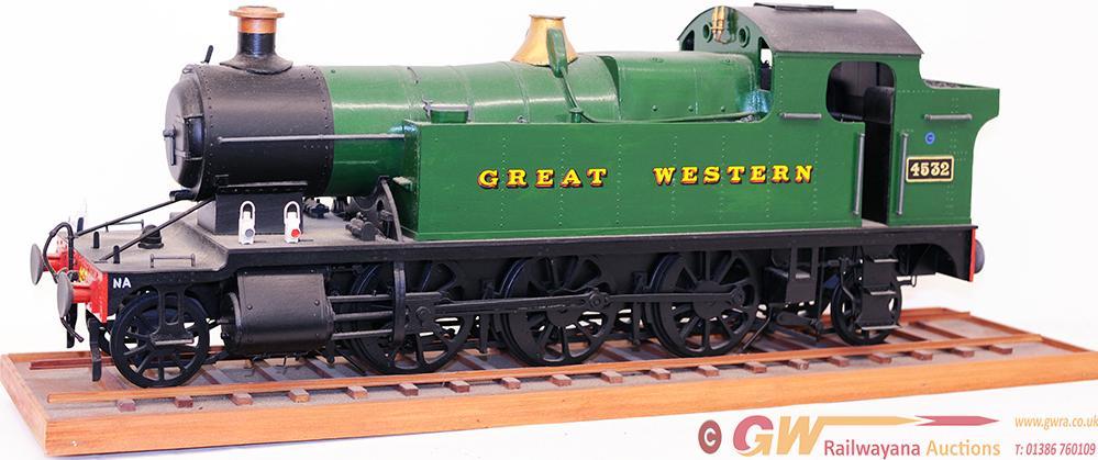 A Wooden Model Of A 4.5in Gauge GWR 2-6-2 Prairie