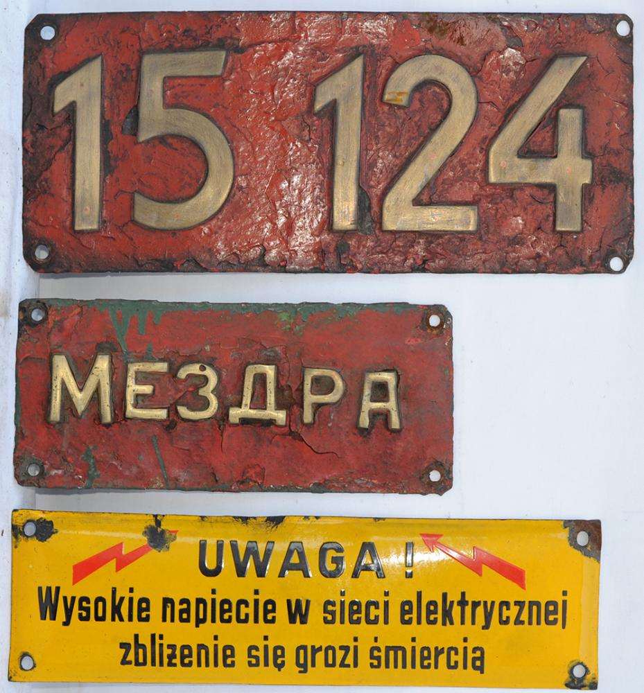 A Lot Containing 3 X European Loco Items. Brass