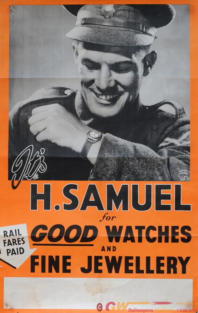Poster WWII 'It's H. Samuel For Good Watches And