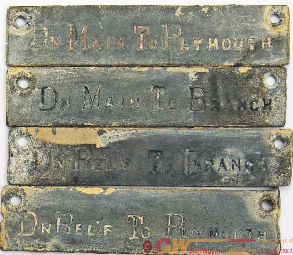 Qty 4 Zinc Plates, Similar To GWR Signal Box Shelf