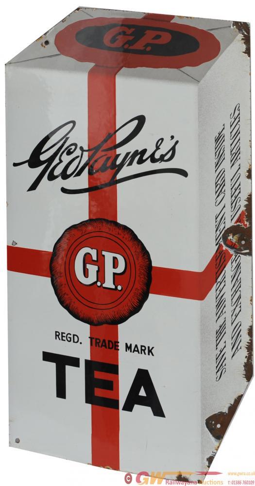 Advertising Enamel Sign 'Geo Payne's GP Tea'.