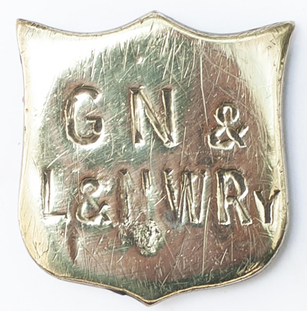 Railway Horse Brass GN&L&NWRY, Shield Shaped. In