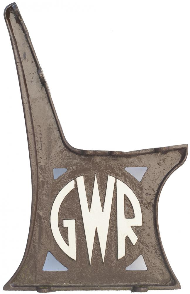GWR Cast Iron Seat Ends x2 With The GWR Roundel