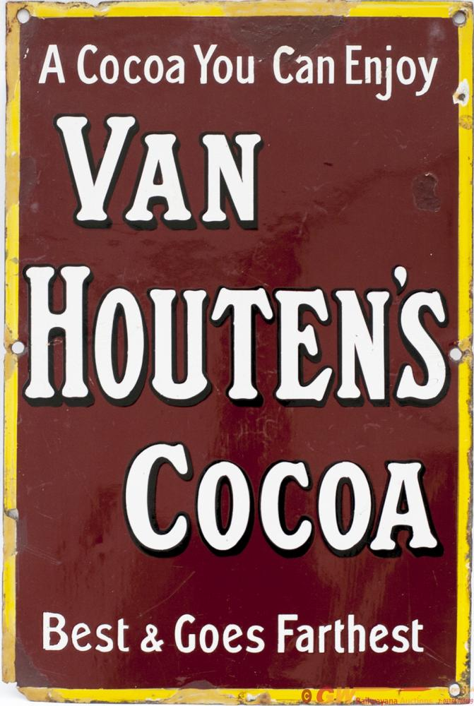 Advertising Enamel Sign A COCOA YOU CAN ENJOY VAN