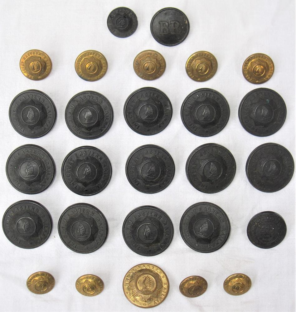 A Collection Of GER Uniform Buttons To Include 14