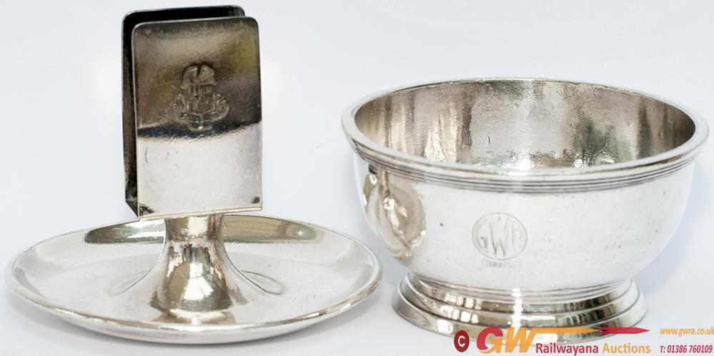 GWR Silverplate Items x2 To Include; GWR Hotels