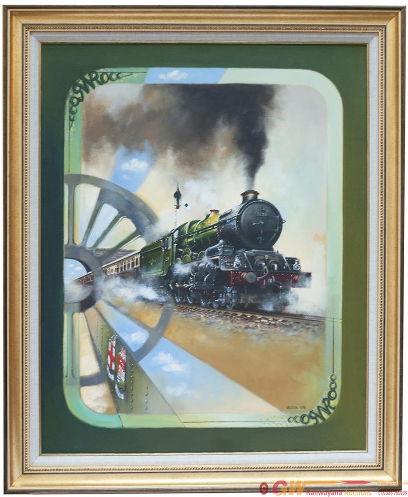 Original Oil Painting On Canvas Of GWR King 4-6-0