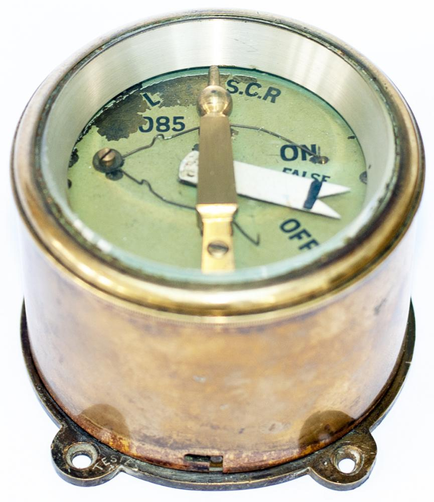 LB&SCR Sykes Brass Cased Distant Signal Indicator.