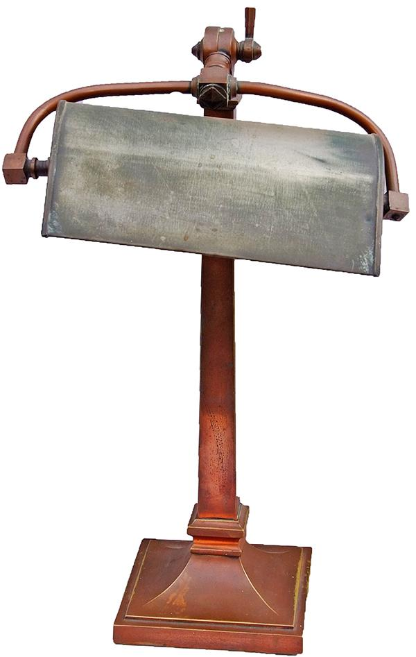 LMS Art Deco Bronze Reading Lamp As Removed From