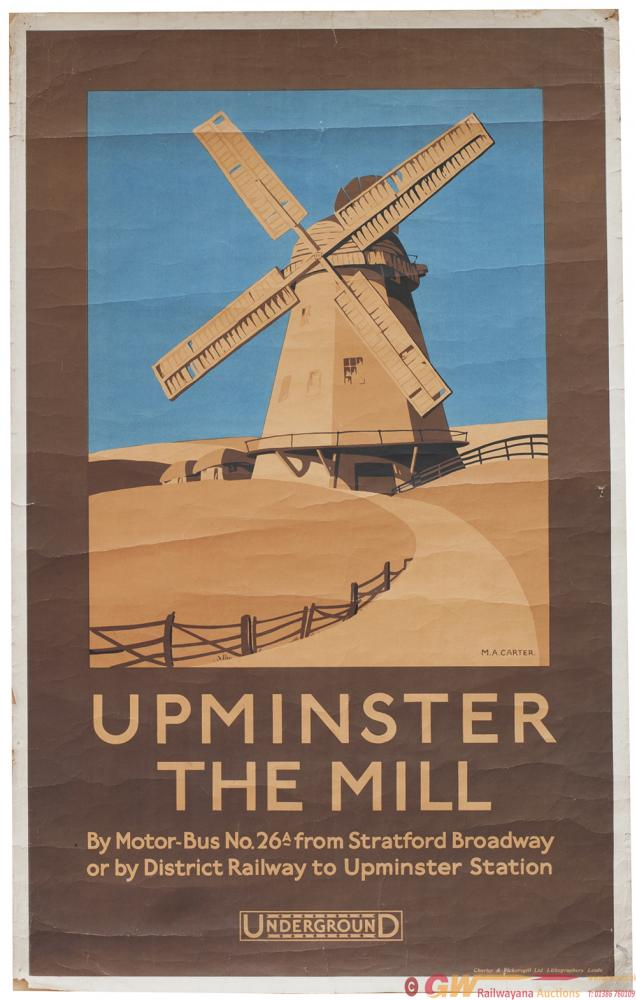 Poster London Underground UPMINSTER THE MILL By M.