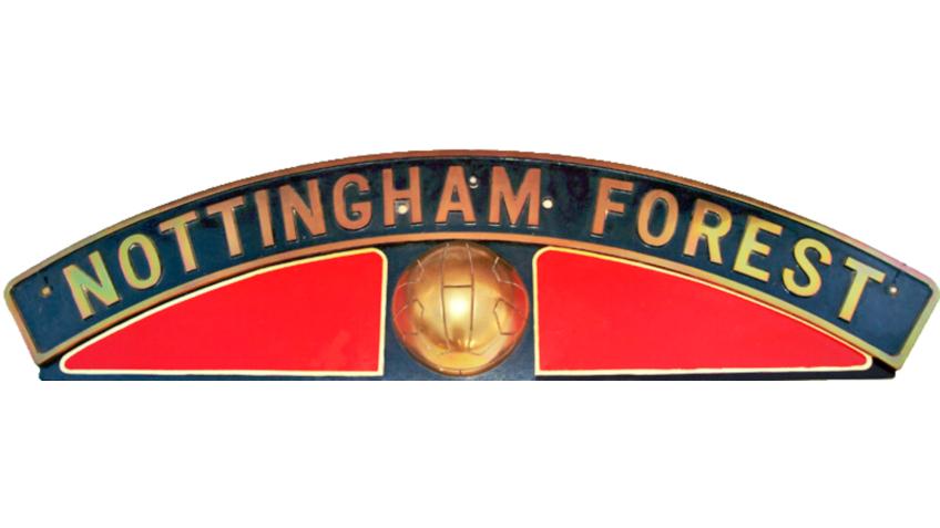 Collectable Antique Railwayana Auction World Records - GW Railwayana - LNER Nameplate Nottingham Forrest