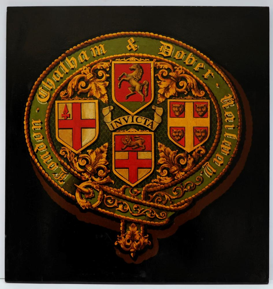 London Chatham And Dover Railway Mounted Crest.