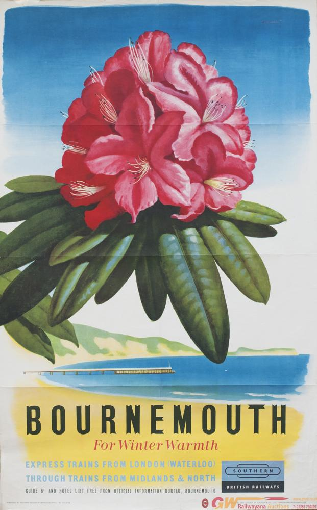 Poster BR BOURNEMOUTH FOR WINTER WARMTH. Double