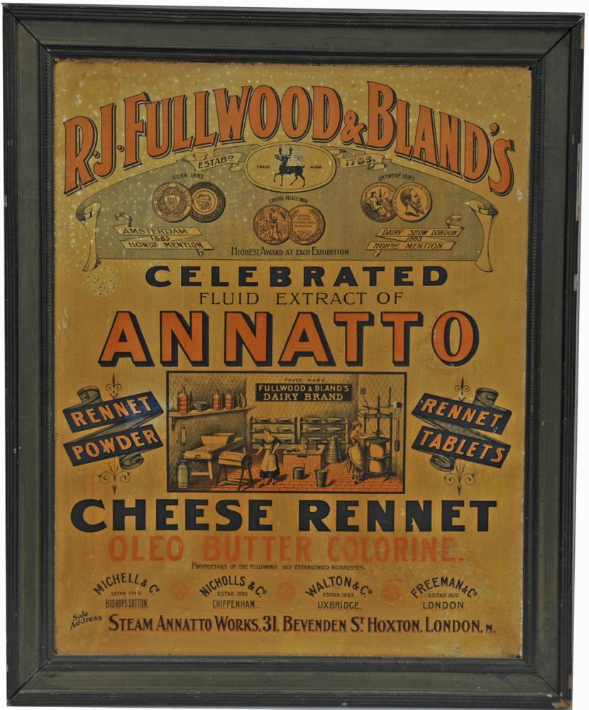 Tin Advertising Sign Annatto Cheese Rennet