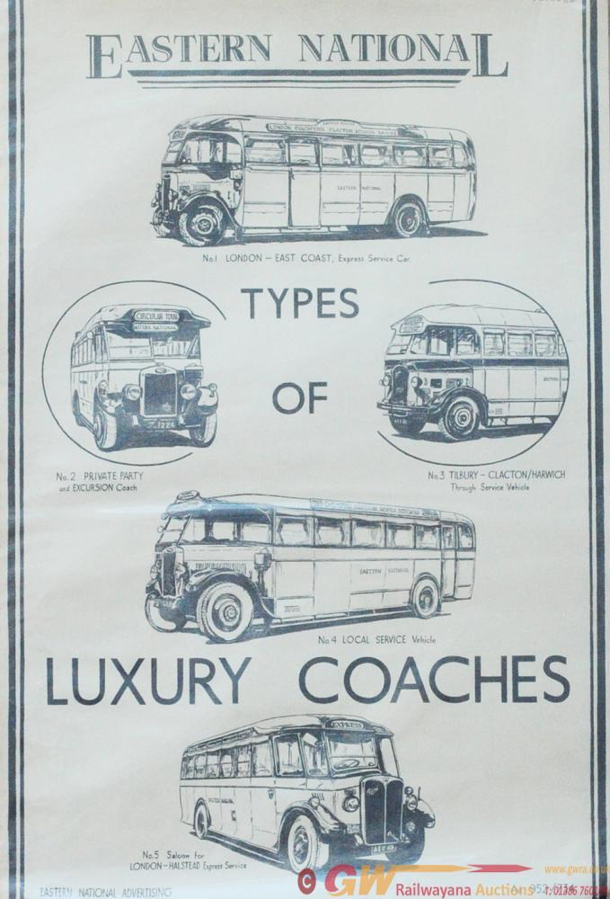 Poster 'Eastern National Types Of Coaches' Double