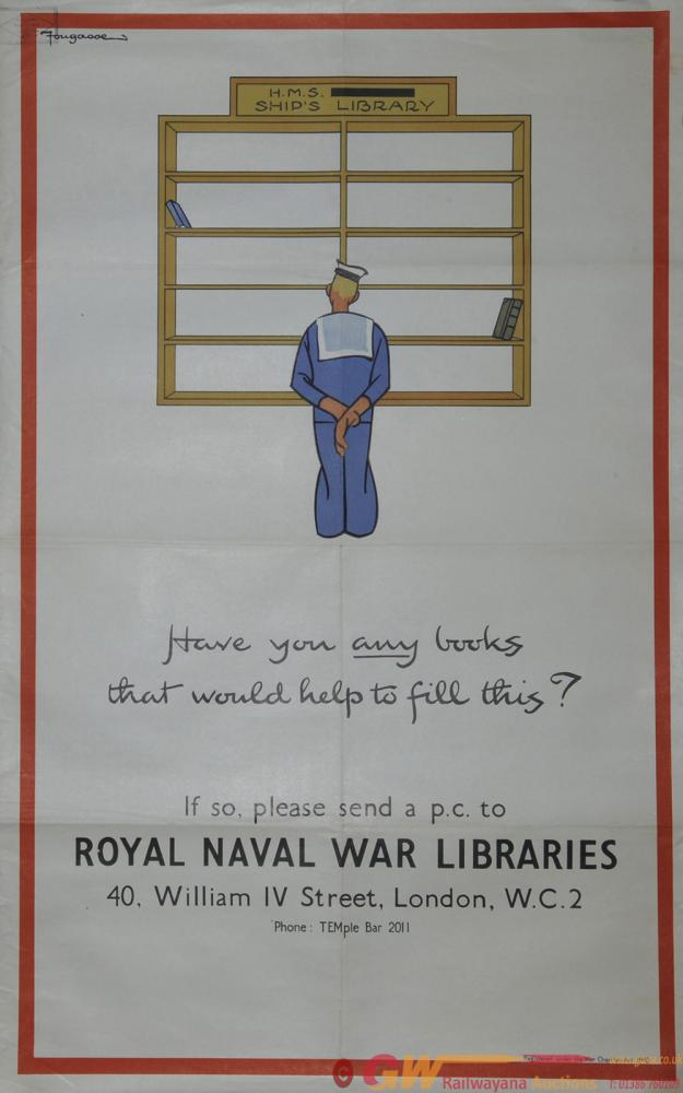 Poster Wartime 'Have You Any Books That Would Help