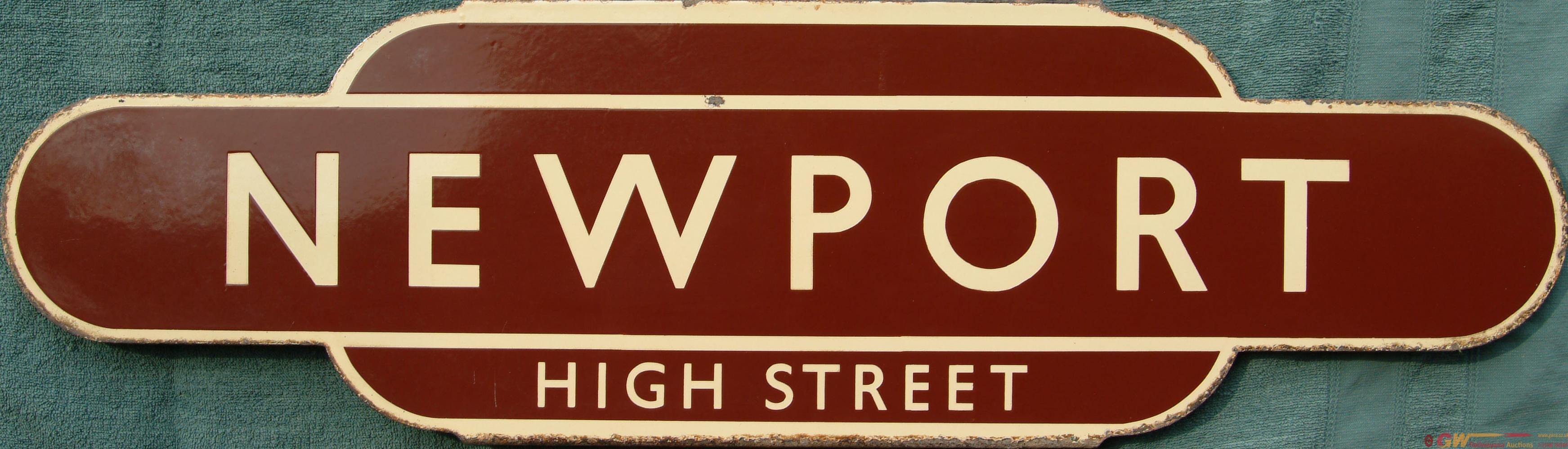 Totem, BR(W) NEWPORT HIGH STREET, H/F. Ex GWR