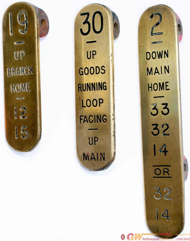 GWR Brass Lever Leads X 3 Consisting Of: 2 DOWN