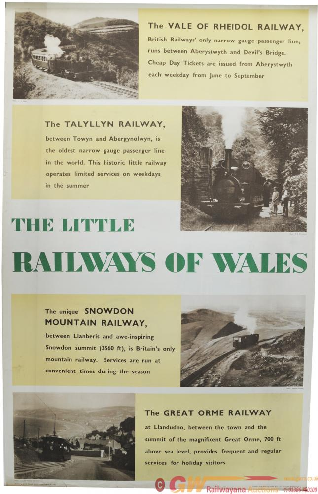BR Poster, The Little Railways Of Wales, D/R Size.