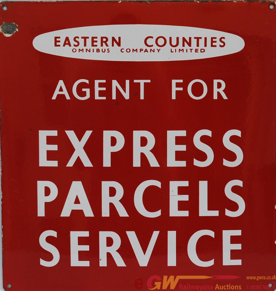 Enamel Advertising Sign 'Eastern Counties Express
