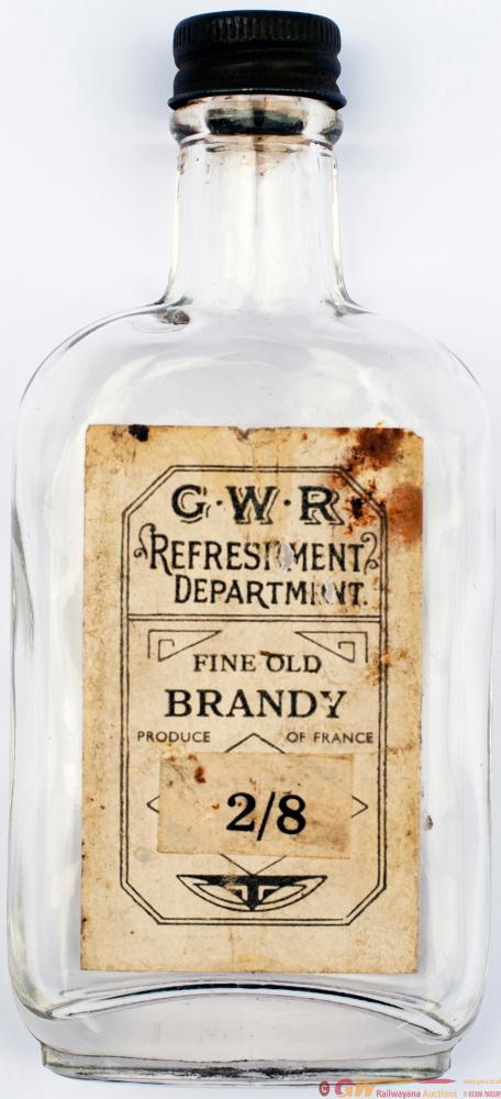 GWR Brandy Bottle 5 Inches Tall With Original