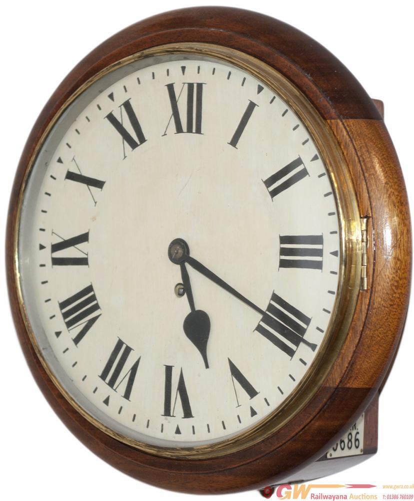 Great Western Railway 12in Oak Cased Railway Clock